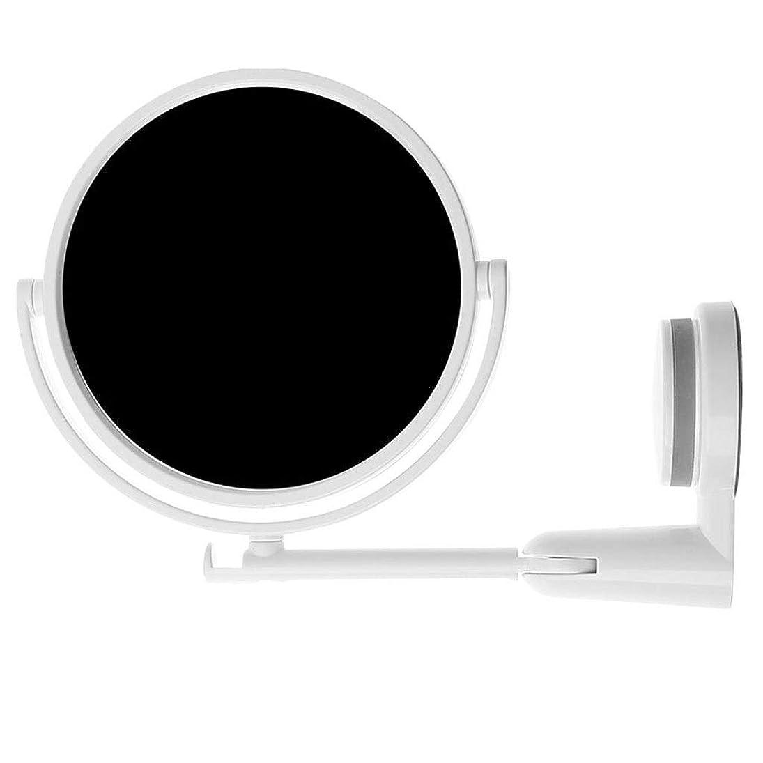 はさみ最悪回転FRF 化粧鏡- バスルームバスルーム無料パンチ折りたたみミラーホテル浴室壁掛け回転ミラー (Color : White, Size : 17.5x16cm)