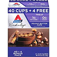 44-Count Atkins Endulge Peanut Butter Cups Pack (Keto Friendly)