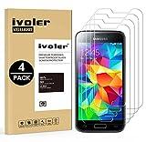 ivoler [4 Stücke] Panzerglas Schutzfolie Kompatibel für Samsung Galaxy S5 Mini, 9H Festigkeit, Anti- Kratzer, Bläschenfrei, [2.5D R&e Kante]