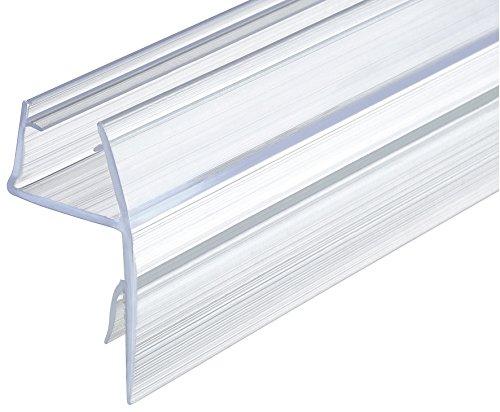 Gedotec Ersatzdichtung 180° Duschdichtung 10-12 mm Glastürdichtung für Glas-Duschtrennwände - Duschkabinen | Lippen-Dichtung Kunststoff PVC Transparent | 200 cm - Glasdichtung für Dusche & Glastüren