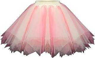 Andouy Damen Petticoat Tutu Tüllrock Unterrock Rock 50er Vintage Ballet Blase Tanzrock Ballkleid