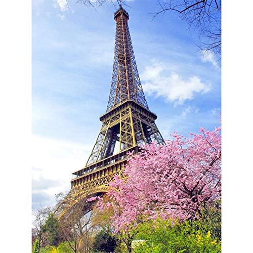 ATggqr Jigsaw Puzzle Puzzle 1000 Piezas 50x75cm Paisaje de la Torre de París Creativo Rompecabezas Juguete De Regalo Ideal De Bricolaje