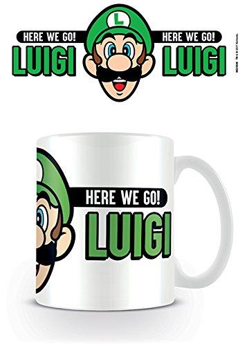 Nintendo Super Mario Here We Go Luigi Kaffeetassen, Keramik, Mehrfarbig, 7.9 x 11 x 9.3 cm