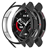 【For Huawei Honor Watch GS Pro】These protector cases are compatible with Huawei Honor Watch GS Pro only. Please confirm your watch model before purchasing. Note: Not include watch and watch bands. 【High Quality PC Material】The cases use slim PC plast...