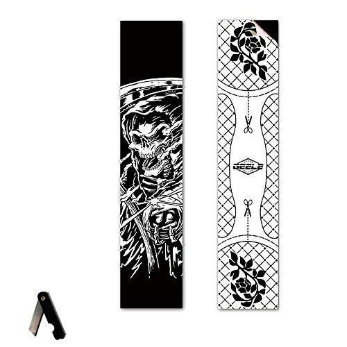 VerOut Skateboard Griptape, Skateboard Grip Tape Blatt 47x9.8 Zoll (39 Farben), Schwarz Scooter Grip Tape, Longboard Griptape, Schmirgelpapier für Wellenbrett (110x25cm),11