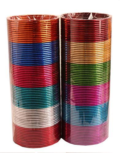 Touchstone Bangle Collection indischen Bollywood-Legierung Metall reichen 12 wunderschöne und Live-Armreifen Armbänder für Damen 2.5 Set von 144 Mehrfarbig