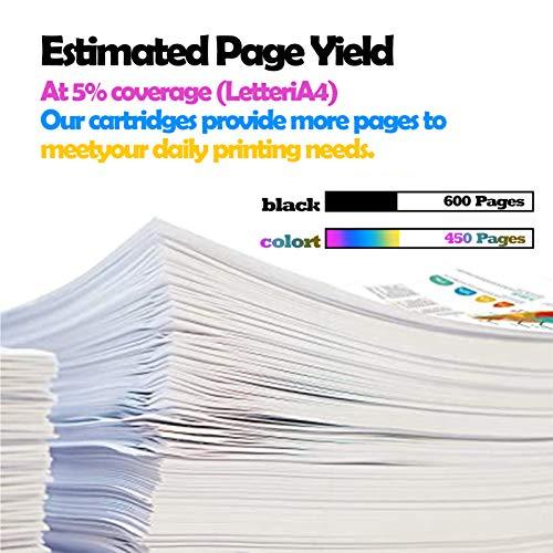 HSLU Cartucho de tinta remanufacturado 680XL, de repuesto negro y color para impresora HP 680XL con Deskjet Ink Advantage 2138 4678 3636 3838 4538 3638 negro