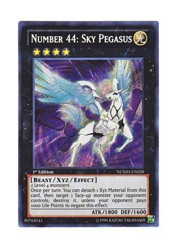 NM Yu-Gi-Oh Secret Rare Number 44 Sky Pegasus 1st Edition NUMH-EN028