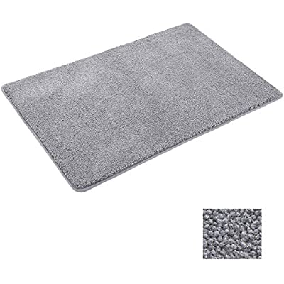 Bathroom Shower Rugs Bath Mat Microfiber Kitchen Washable Area Rug Doormat UK
