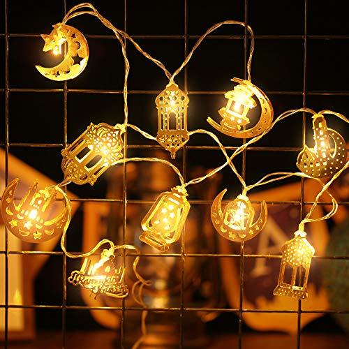Cadena de Luces de Hadas de Ramadán, Guirnalda de Luces de Eid...
