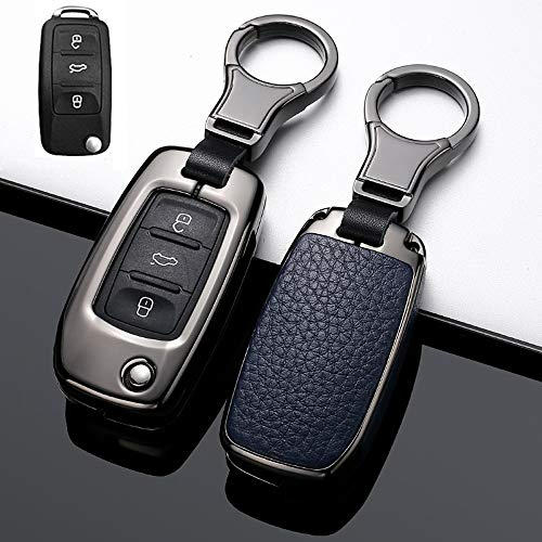 HIBEYO - Funda para llave de VW compatible con Volkswagen VW Jetta R Golf Beetle...