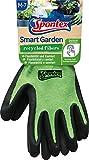 Spontex Smart Garden Gartenhandschuhe, Touchscreen kompatibel, aus recycelten PET-Flaschen, mit Nitrilbeschichtung, Größe M, 1 Paar