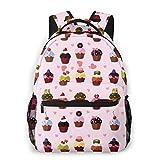 Lightweight Schoolbags For Girls Cartoon Dim Sum Backpacks For Women Shoulder Bag Fits 14 Inch Laptop