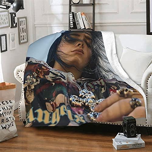 Bi-Llie And Ei-Li-Sh Persolized Regalos personalizados Ropa de cama Sofá Aire Acondicionado Regalos de Cumpleaños Ligero y Suave Manta de Viaje Personalizada y Cool Pattern 60x50'