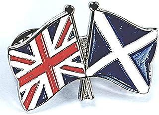 Mainly Metal ™ - Spilla smaltata, motivo: Amicizia, Scozia, Regno Unito, Gran Bretagna, 30 mm