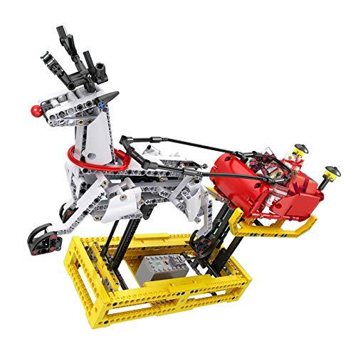 IIKA Adventskalender Bausteine Rentierschlitten Spielzeug 788stk Klemmbausteine kompatibel mit Lego Technik