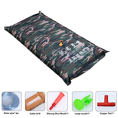 Find Discount 130L Portable Solar Outdoor Camping Shower Bag, Household Summer Simple Canvas Bath ho...