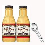 Terry Hos Yum Yum Sauce - Original Japanese Hibachi Steak Shrimp Sauce - 16 Oz (Pack of 2) with with Spoon