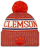 New Era 2019 Sideline Sport Knit Winter Pom Knit Hat Cap (Clemson Tigers)