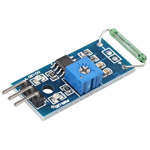 HALJIA - Reed-Sensor-Modul, Magnetron-Modul, Reed-Schalter, Magswitch Kompatibel mit Arduino