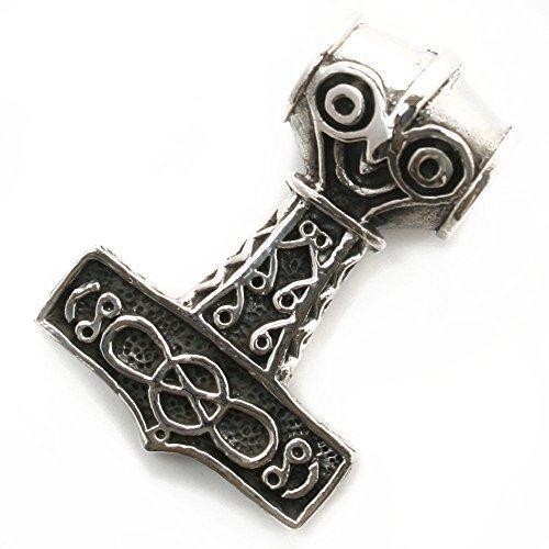 Dije Martillo de Thor nórdico, Colgante Mjolnir vikingo en