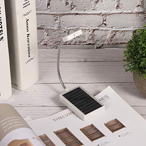 Lámpara de clip, función de memoria normal Cable USB con banco de energía plástico para mesa de dormitorio Lectura de libros de lectura