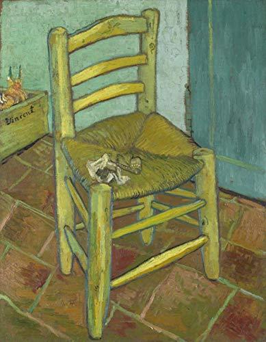 Handgemaltes Ölgemälde,Leerer Stuhl Von Vincent Van Gogh Handgemalte Ölgemälde Berühmten Großen Der Klassischen Moderne Reproduktion Für Schlafzimmer Home Dekoration Kunst Galerie Cafe 100 ×