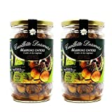 Concept Fruits Whole Roasted French Chestnuts - Peeled, Ready-to-eat, Steamed - Product of France - 14.2 Ounces - 2 Jars, Pack of Two
