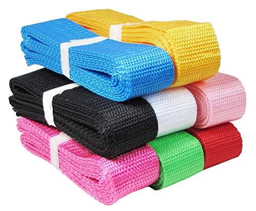HipGirl Polypro Webbing for DIY Key Fob Hardware, Yoga Strap, Tote, Bag Handle, Backpack Strap, Belt, Leash, Outdoor Chair and Furniture (16yd (8x2yd) 30mm Polypropylene Webbing)