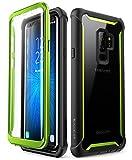 i-Blason - Custodia rigida per Galaxy S9+ Plus 2018, con protezione schermo integrata, colore: Verde