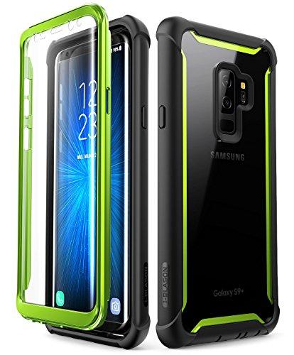 i-Blason Hülle für Samsung Galaxy S9 Plus Case 360 Grad Handyhülle Bumper Case Robust Schutzhülle Clear Cover [Ares] mit integriertem Displayschutz, Grün