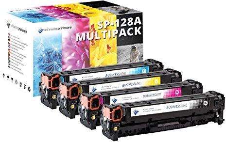 4 Schneider Printware Toner |35 Prozent mehr Druckleistung | kompatibel zu HP CE320A CE321A CE322A CE323A 128A für HP Color Laserjet Pro CM1415fn CM1415fnw CP1525n CP1525nw