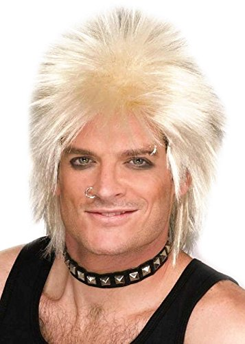 80s Rock Idol Wig, Blonde