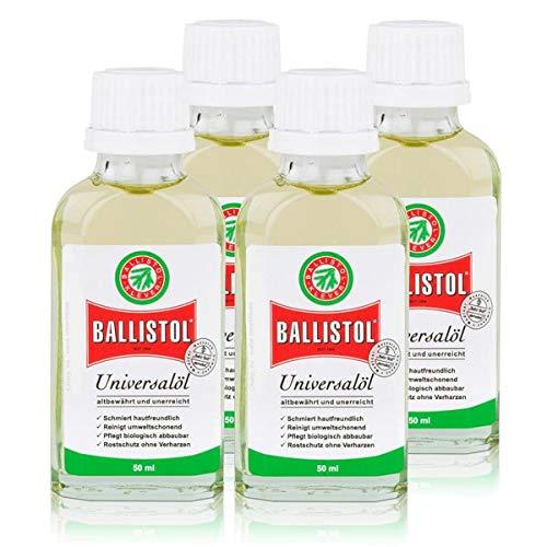 Bouteille Huile universelle Ballistol 50 ml – Protection contre la rouille sans verharzen (Pack de 4)