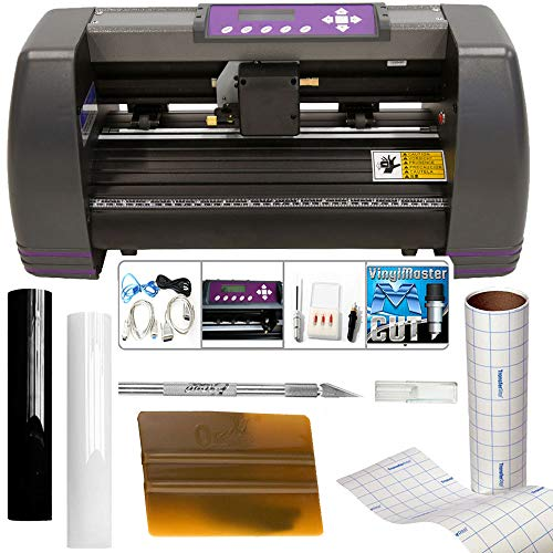 "USCutter 14"" Craft Vinyl Cutter MH Bundle - Sign Making Kit w/Design & Cut Software, Supplies Tools"