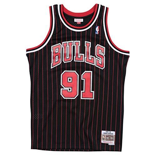 Mitchell & Ness Swingman Chicago Bulls Rodman - Camiseta de tirantes, color negro, tamaño XS