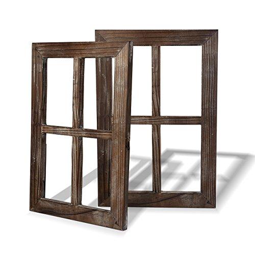 BESTOOL Wand Vintage Holzfensterrahmen Punk Antique Home Dekoration Deko für Zuhause oder im Freien, Nicht für Bilder, 2 Stück (40 X 28 cm)