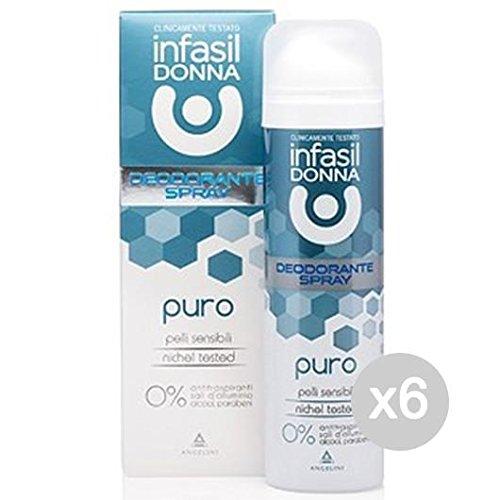 Juego 6Infasil Desodorante Spray puro ml 150Cuidado e higiene del cuerpo