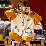 CIDCIJN Pijama para Mujer,Sleepwear 2 Conjuntos De Piezas para El Algodón De Las Mujeres Pijamas De Cuello A Casa Ropa De Hogar De Gran Tamaño Pijama Pijama Pijama Pijama, Verde, XXL