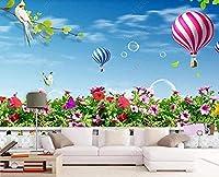 グローブランドスケープエアロスタティックグラスランド壁画3D壁紙装飾壁紙3D壁紙ペーストリビングルーム寝室の壁壁画--350cmx245cm