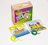 Carlu Brinquedos - Alinhavos Iniciação Jogo para Estimular Habilidades Motoras, 4+ Anos, 10 Bases Perfuradas, Multicolorido, 1058