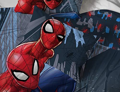 Product Image 5: Jay Franco Marvel Spiderman Crawl 5 Piece Full Bed Set – Includes Reversible Comforter & Sheet Set Bedding – Super Soft Fade Resistant Microfiber – (Official Marvel Product)