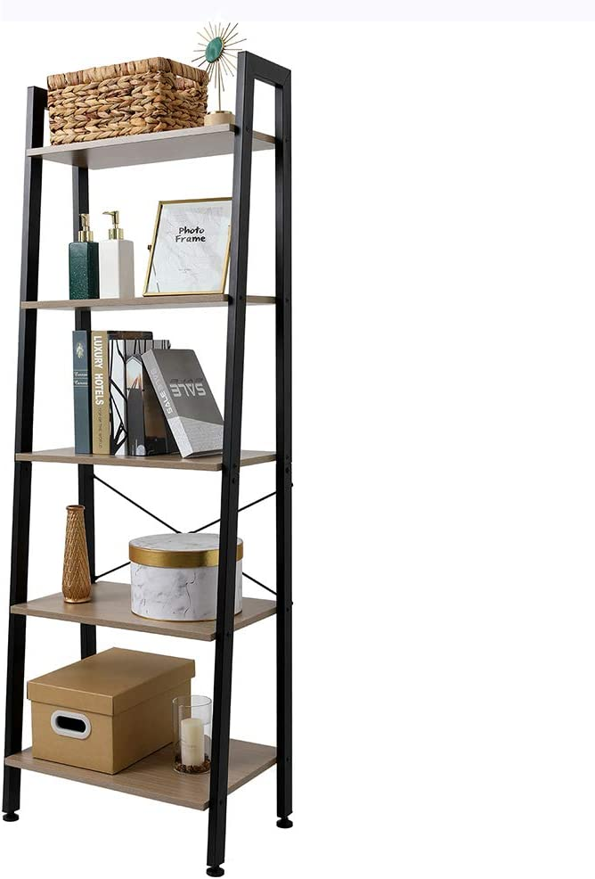 SoSo-BanTian1989 Year-end gift Industrial Ladder Shelf W Bookcase Ranking TOP2 Metal Frame