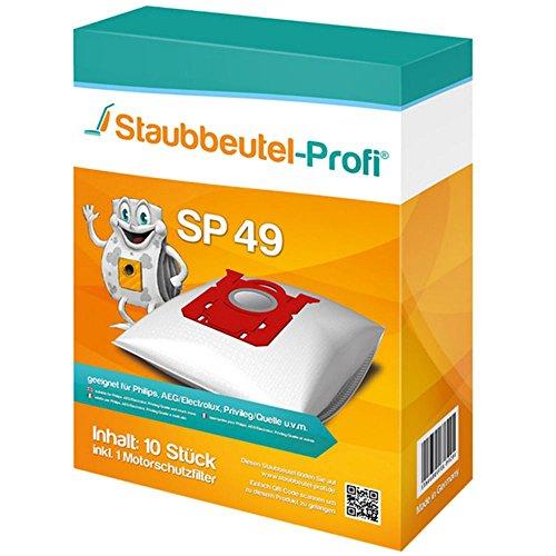 10 Staubsaugerbeutel für AEG ACS 1800, Classic Silence, AEC...Serie Clario, SP49 von Staubbeutel-Profi®