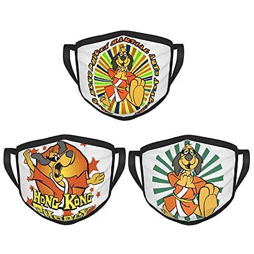Hong Kong Phooey Adult Black Border Masks Comfortable and Breathable Safety Mask, Reusable Masks (3-Pack) Black One Size
