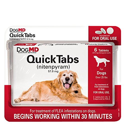 Dog MD Maximum Defense QuickTabs Nitenpyram Flea Treatment, for dogs over 25 pounds, 6 tablets
