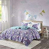 Urban Habitat Kids Lola Full/Queen Bedding for Girls Quilt Set - Purple, Aqua, Unicorns - 5 Piece Kids Girls Quilts - 100% Cotton Quilt Sets Coverlet queen comforter set Dec, 2020