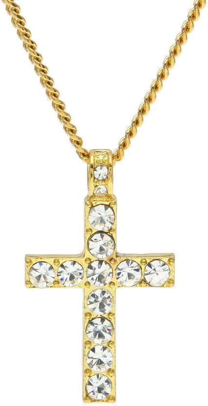 Quality inspection Popular popular YOMXL Hip Hop Men Women Jewelry P Bling Cross Crystal Rhinestone