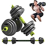 MZQZM Adjustable Dumbbells Set, 44Lbs Dumbbells(2 Pieces), Lightweight Barbell, Heavy Duty Barbell 3...