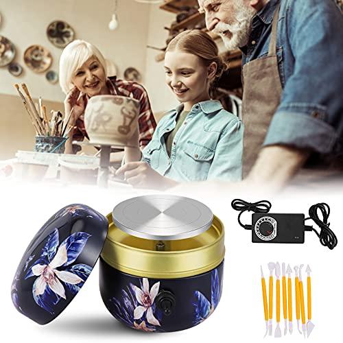 Torno Alfarero, PaNt Mini Torno Ceramica Púrpura 1500RPM Torno Ceramica Electrico de...